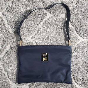 Vintage FENDI SAS FF Black Nylon Shoulder Bag Tote